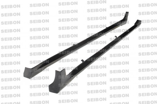 NS-style carbon fiber side skirts for 2008-2009 Infiniti G37 4DR