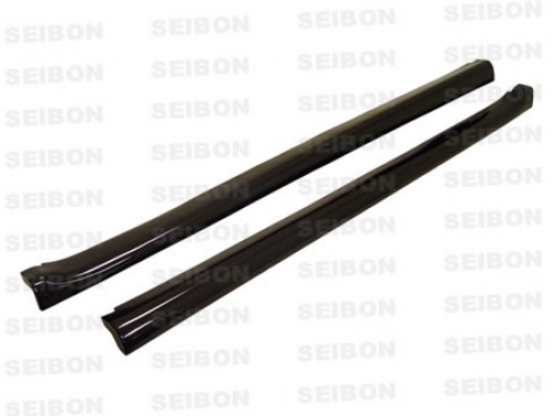 MG-style carbon fiber side skirts for 1992-1995 Honda Civic HB