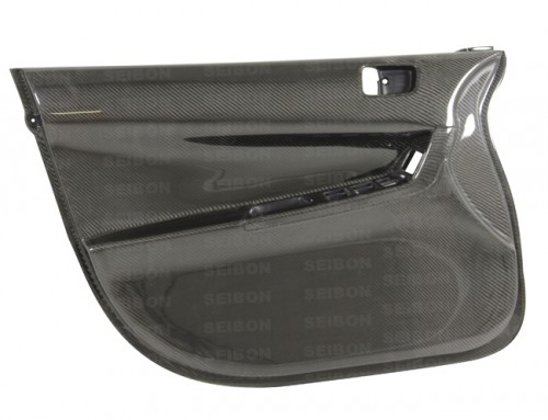 Carbon fiber front door panels for 2008-2012 Mitsubishi Lancer EVO X