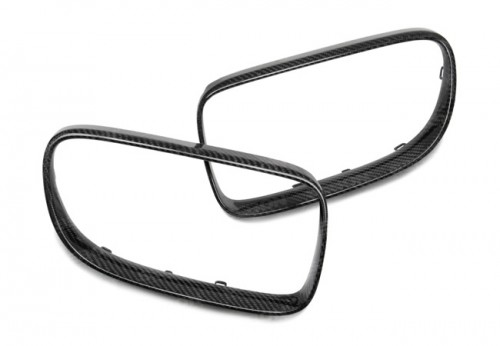 CARBON FIBER FRONT GRILLE TRIM FOR 2007-2010 BMW E92 3 SERIES COUPE