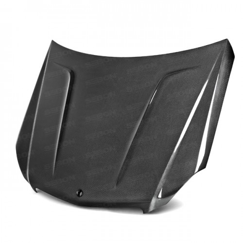 TA-Style Carbon Fiber Hood for 2012-2014 Mercedes Benz C-Class (Does not fit C-63)