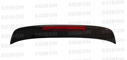 SP-style carbon fiber rear spoiler w/LED for 1992-1995 Honda Civic HB
