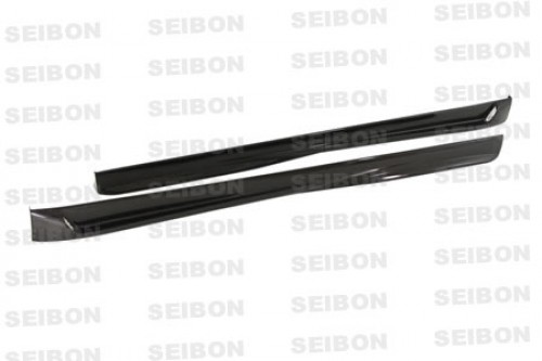 TT-style carbon fiber side skirts for 2006-2009 Volkswagen Golf GTI