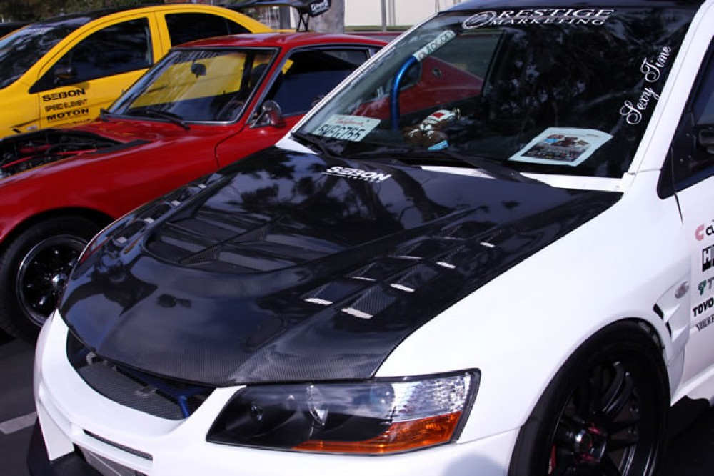 carbon for lancer oem evo products clear matte dry coated all are oe hood x style not mitsubishi finish cw