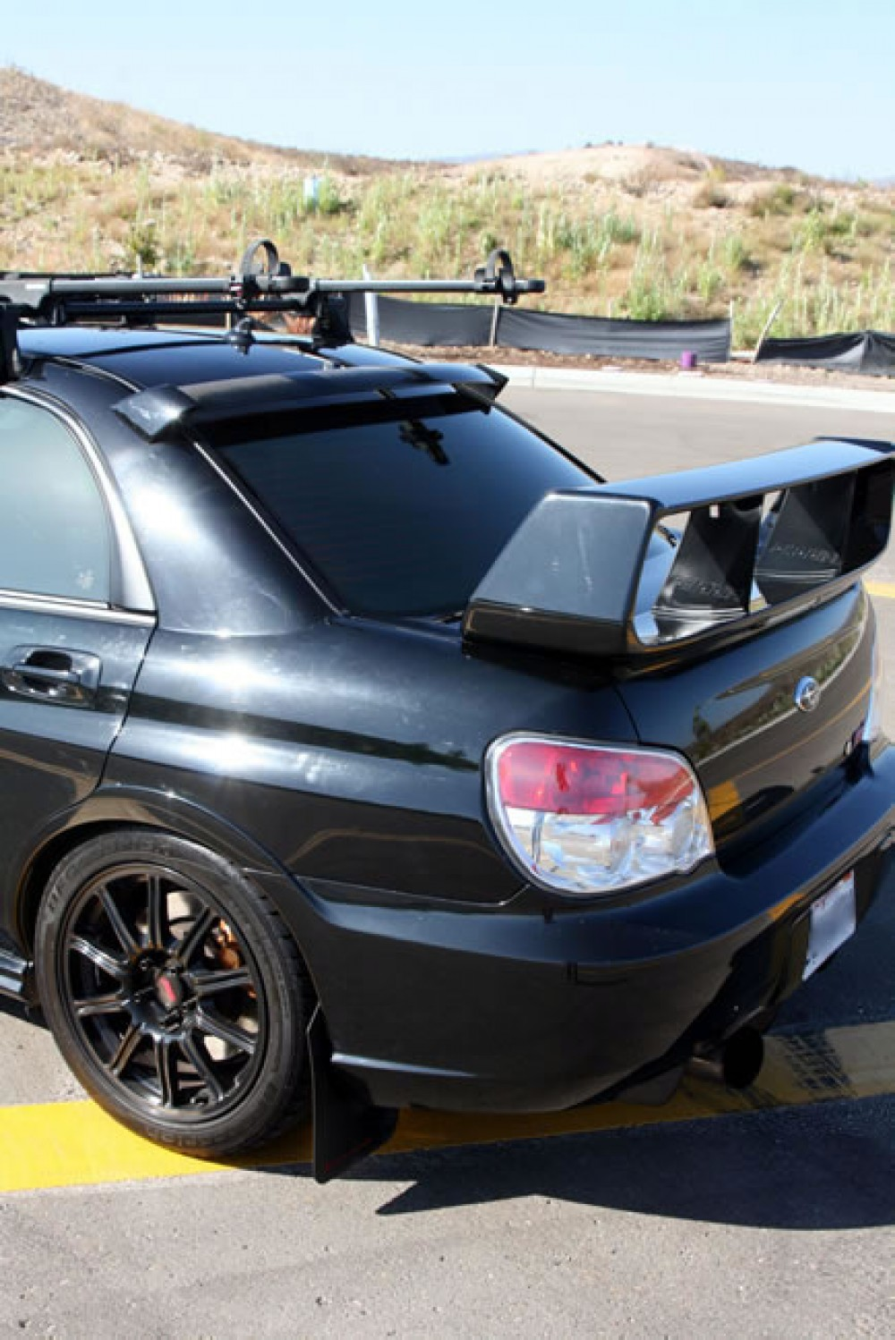 Carbon Fiber Rear Roof Spoiler For 2006 2007 Subaru