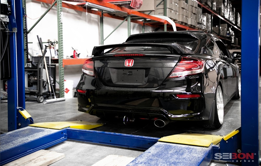 Oem Style Carbon Fiber Trunk Garnish For 2014 2015 Honda