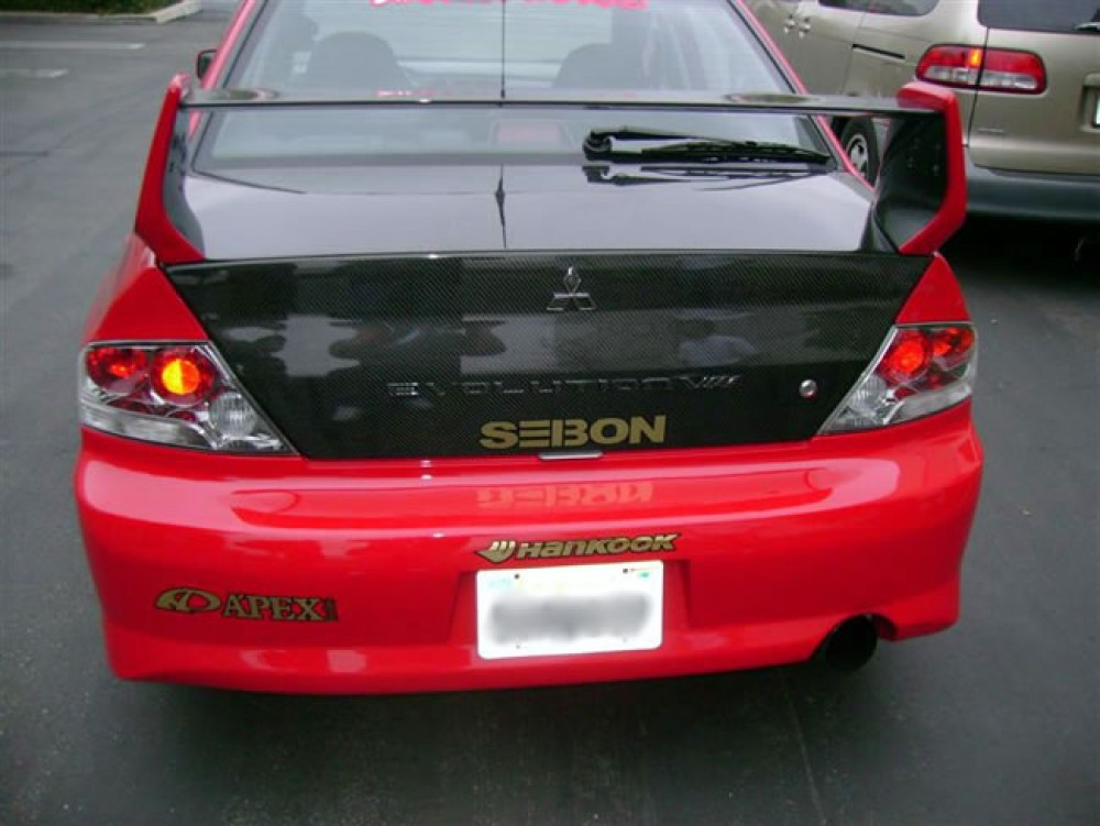 oem style carbon fiber trunk lid for 2003 2007 mitsubishi lancer evo. Black Bedroom Furniture Sets. Home Design Ideas