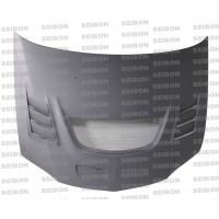 CW-style DRY CARBON ..hood for 2003-2007 Mitsubishi Lancer EVO..*ALL DRY CARBON PRODUCTS ARE MATTE FINISH!