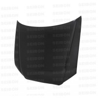 OEM-STYLE CARBON FIBER HOOD FOR 2006-2007 AUDI A4 - Straight Weave
