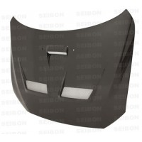 CW-style carbon fiber hood for 2008-2012 Mitsubishi Lancer EVO X