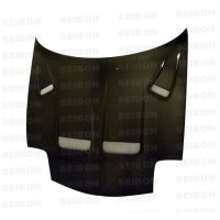 KS-style carbon fiber hood for 1993-2002 Mazda RX-7