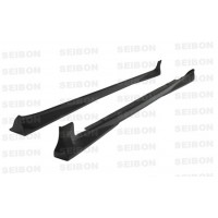 OEM-style carbon fiber side skirts for 2007-2008 Toyota Yaris Liftback