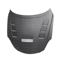 TV-style DRY CARBON fiber hood for 2001-2010 Lexus SC430 *ALL DRY CARBON PRODUCTS ARE MATTE FINISH!