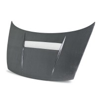 VSII-style silver string carbon hood for 2006-2010 Honda Civic 2DR
