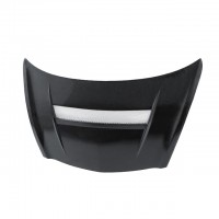 VSII-Style Carbon Fiber Hood for 2007-2008 Honda Fit (Straight Weave)
