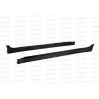 VR-style carbon fiber side skirts for 2008-2012 Mitsubishi Lancer EVO X