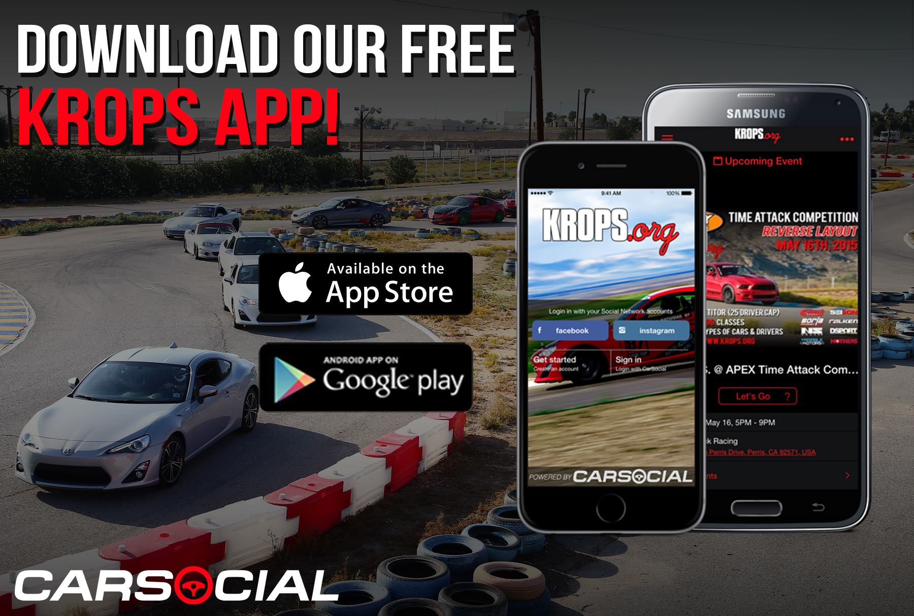 K.R.O.P.S. Launches Local Track Event iPhone and Android App