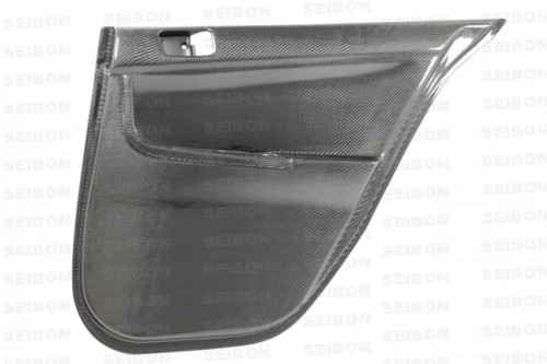 CARBON FIBRE REAR DOOR PANELS FOR 2008-2013 MITSUBISHI LANCER EVO X