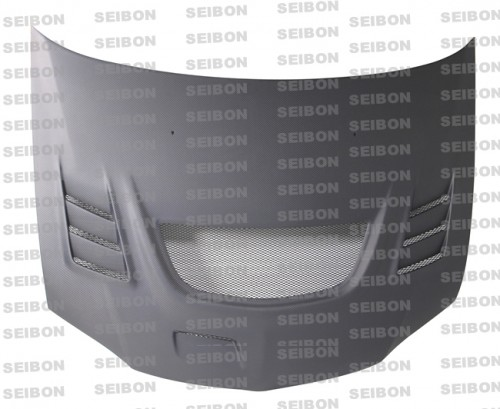 CW-STYLE DRY CARBON HOOD FOR 2003-2006 MITSUBISHI LANCER EVO VIII