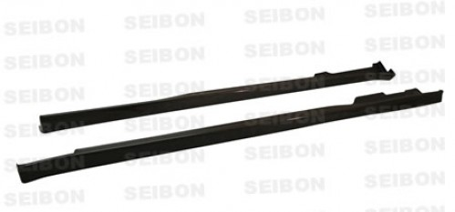 TR-style carbon fiber side skirts for 1996-2000 Honda Civic 2DR/HB