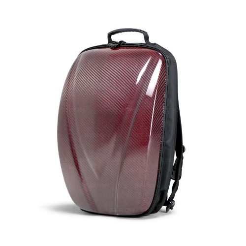 CARBON FIBER HARD SHELL BACKPACK - Red