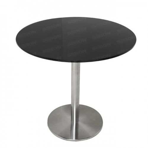 "Carbon Fiber Circular Table 31.5"" x 30""H"