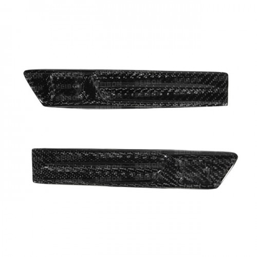 Carbon fiber fender duct logo for 2009-2010 Nissan GTR