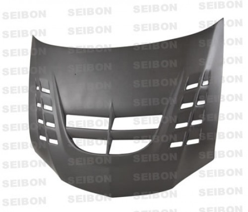 CWII-STYLE DRY CARBON HOOD FOR 2003-2006 MITSUBISHI LANCER EVO VIII