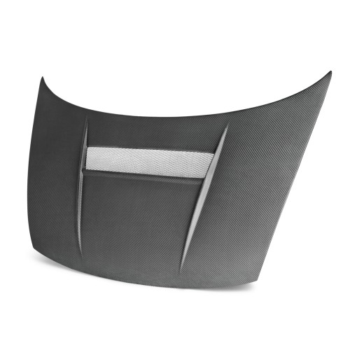 VSII-style carbon fiber hood for 2006-2010 Honda Civic 2DR (Matte Finish)