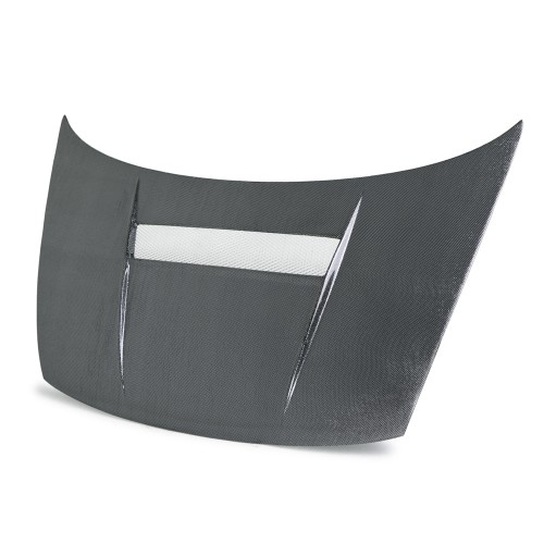 VSII-STYLE SILVER STRING CARBON HOOD FOR 2006-2010 HONDA CIVIC COUPE