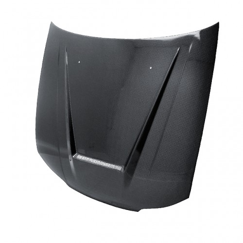 VSII-STYLE CARBON FIBER HOOD FOR 1999-2002 NISSAN SILVIA S15 - Straight Weave
