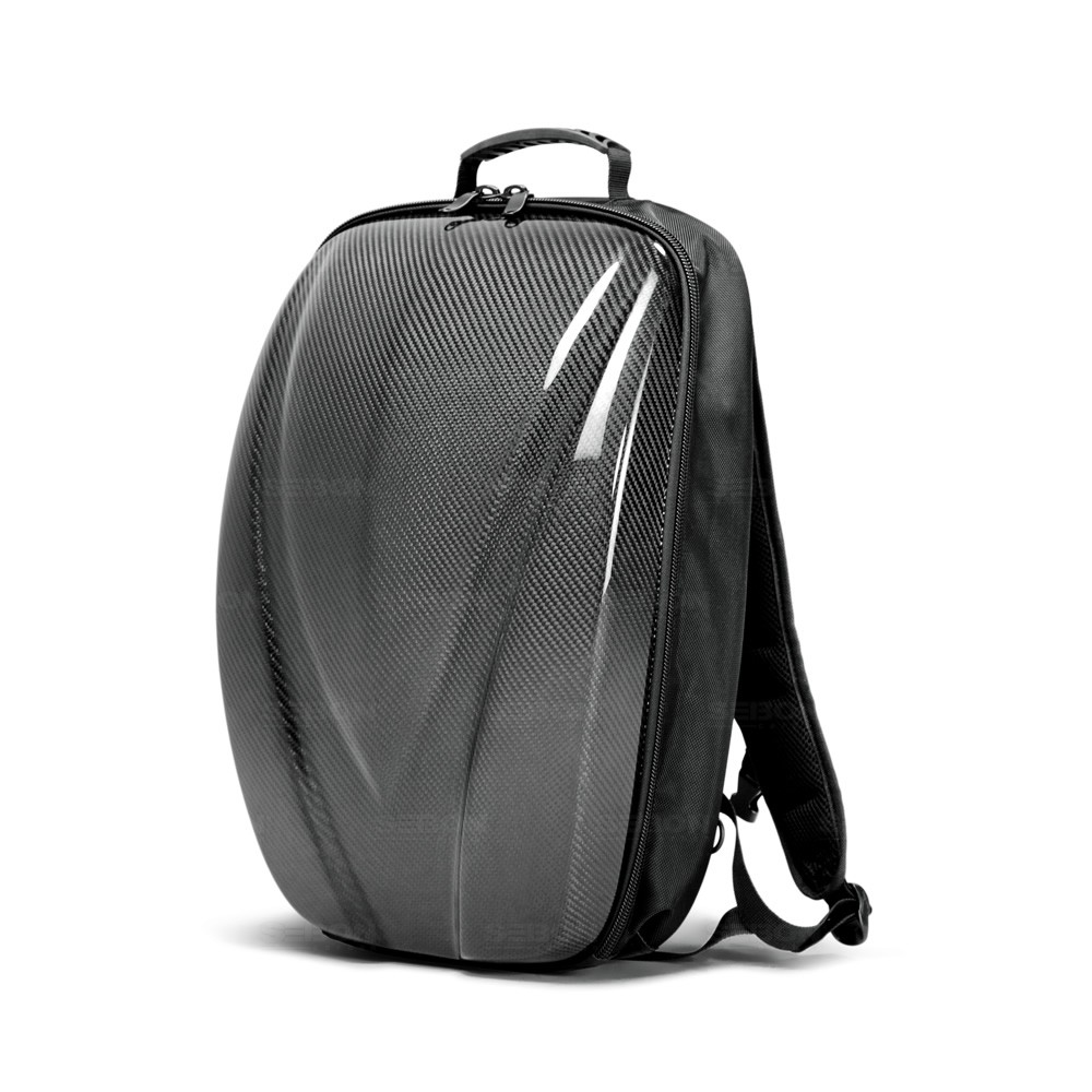 Carbon Fiber Hard Shell Backpack Black