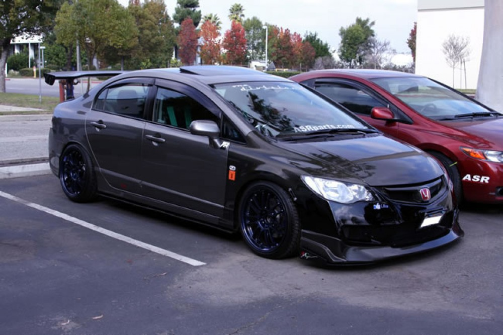 Carbon Fiber Fenders For 2006 2007 Honda Civic 4dr Jdm