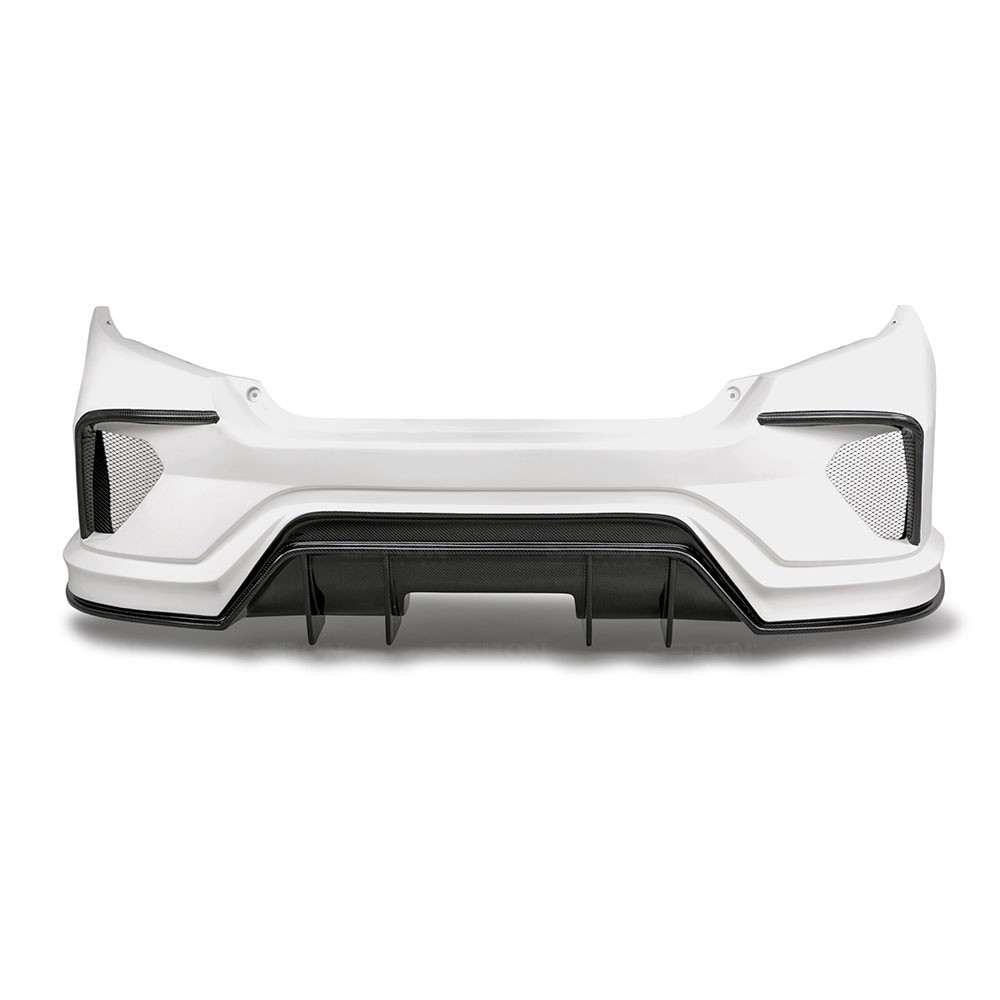 Tt Style Carbon Fiber Rear Spoiler For 2015 2019: TT-STYLE FIBERGLASS / CARBON FIBER REAR BUMPER FOR 2016