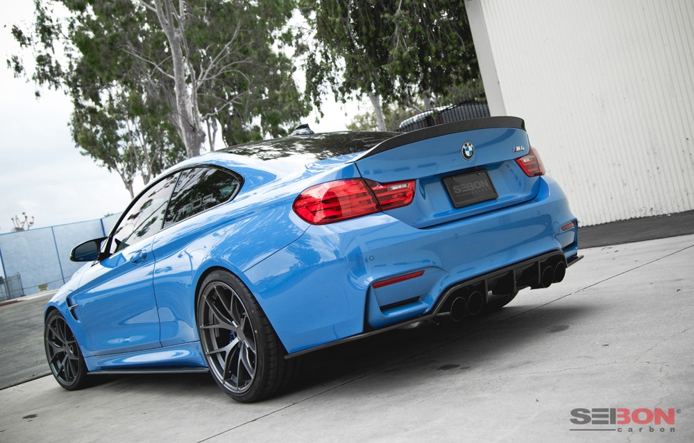 C Style Carbon Fiber Rear Spoiler For 2015 2018 Bmw F82 M4 Coupe