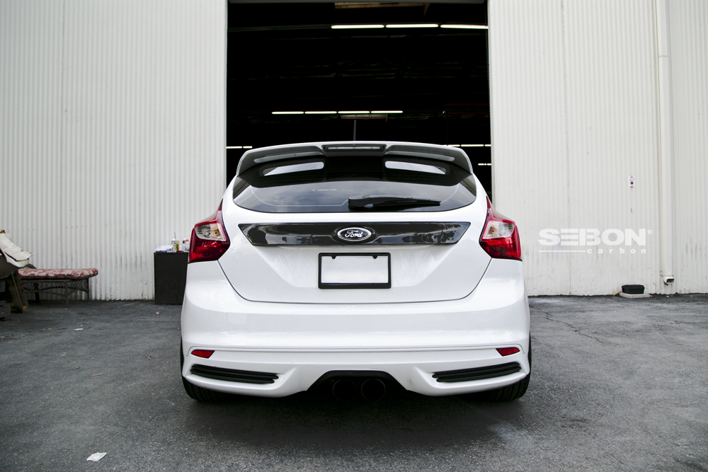 New Product: Carbon Fiber Tail Garnish For 2012-2013 Ford Focus By Seibon Carbon